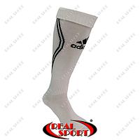 Гетры футбольные Adidas FB020130 (х-б, верх-нейлон, р-р 40-45, бело-черный)