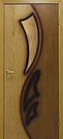 Двери межкомнатные натуральный глухая шпон Лилия 2 СС бронза орех/дуб ДНТ