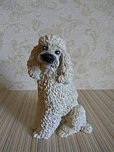 Статуэтка собачка пудель белый, фото 3