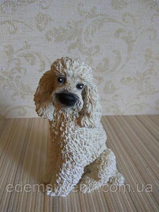 Статуэтка собачка пудель белый, фото 2