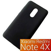Чехол бампер Xiaomi Redmi Note 4X  матовый черный SLIM