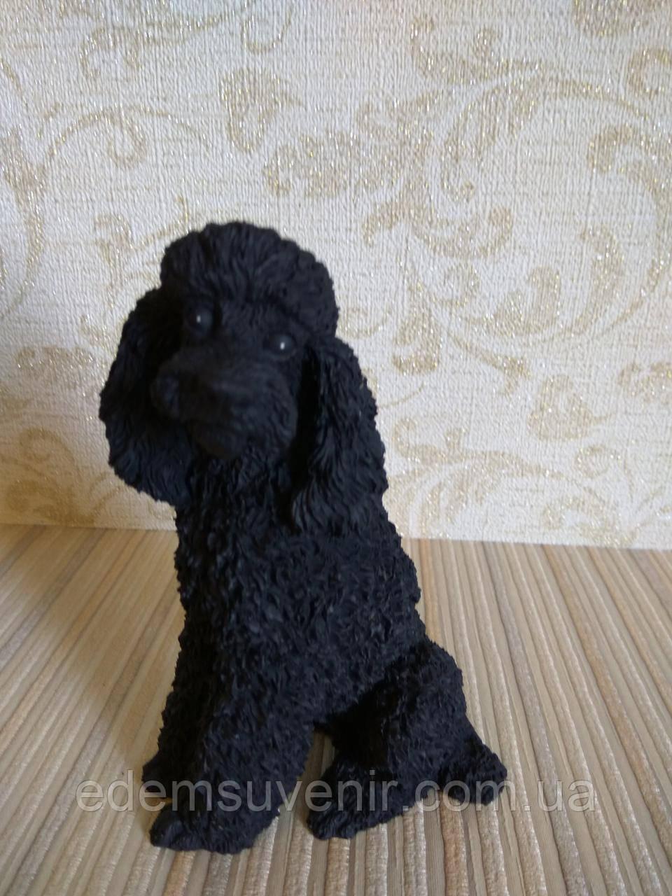 Статуэтка собачка пудель черный