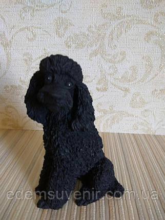 Статуэтка собачка пудель черный, фото 2
