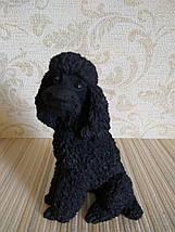 Статуэтка собачка пудель черный, фото 3