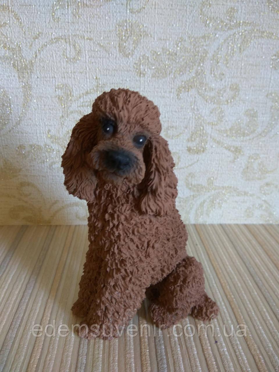 Статуэтка собачка пудель коричневый