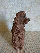Статуэтка собачка пудель коричневый, фото 2