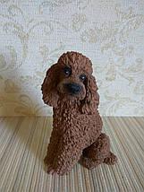 Статуэтка собачка пудель коричневый, фото 3