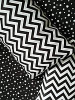 Постельное белье черно-белое Микс Black