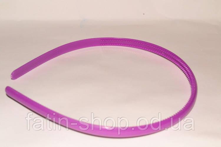 Пластиковый обруч для волос с зубчиками, цв.темная малина