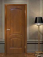 Двери межкомнатные натуральный  глухая шпон Капри орех