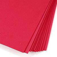 Фоамиран ФОМ красный 40 см * 60 см, толщина 1 мм (5 листов)