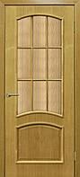Двери межкомнатные со стеклом шпон Капри СС кора бронза ДНТ
