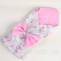 Конверт - одеяло на выписку демисезонный Балеринки 80 х 85 см розовый , фото 1