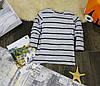 Кофта с длинными рукавами серая полоска КХ0001-128р