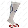 Гетры футбольные Adidas FB020131 (х-б, верх-нейлон, р-р 40-45, бело-синий)