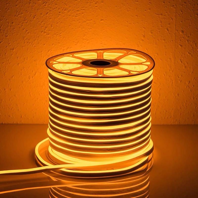 """Светодиодная лента 24В """"Dream light"""" гибкий неон IP68 желтая"""