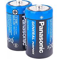 Батарейка Panasonic GENERAL PURPOSE (R20BER/2P) (R20) BLI 2 шт. (поштучно)