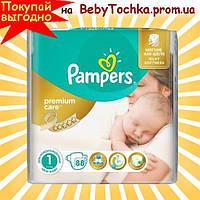 Подгузники Памперс Pampers Premium Care Newborn 1 (2-5 кг) 88шт.
