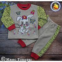 Костюм с брюками на манжете для девочек Размеры: 6- 9 месяцев (5692-5)
