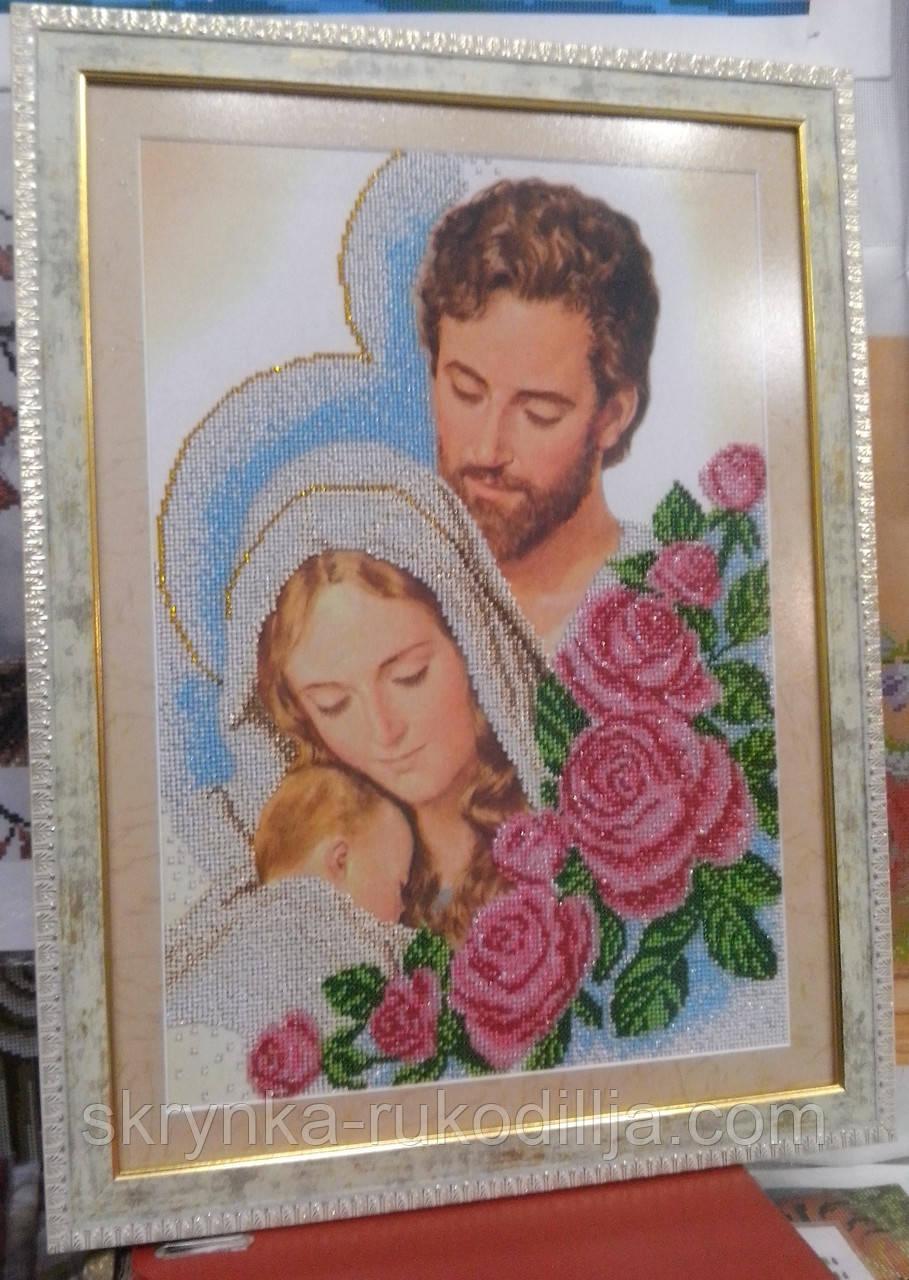 Вишивка бісером ікона Святе сімейство 30х40 см  продажа f591c5e0aa881