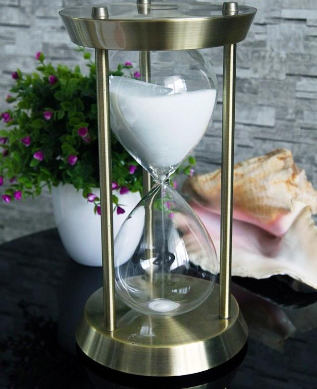 Пісочний годинник на 30 хвилин з нержавіючої сталі
