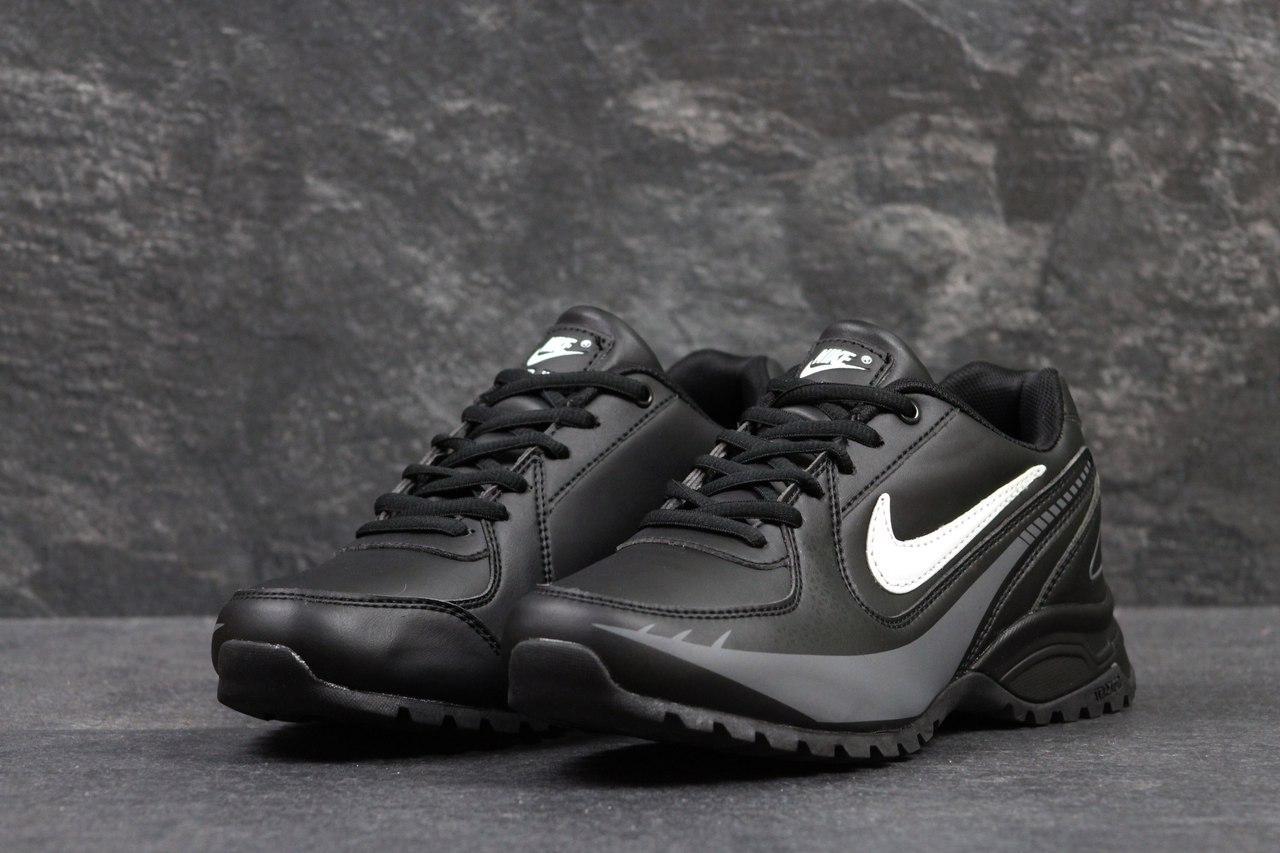 Кроссовки мужские Nike air max черные с белым,46р