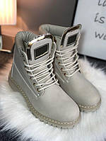 Зимние женские ботиночки светлом беже Timbe