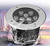 Светильник грунтовый QK-UL-006 LED 9W  230V   размер  160мм*90мм  IP67  6400K, фото 3