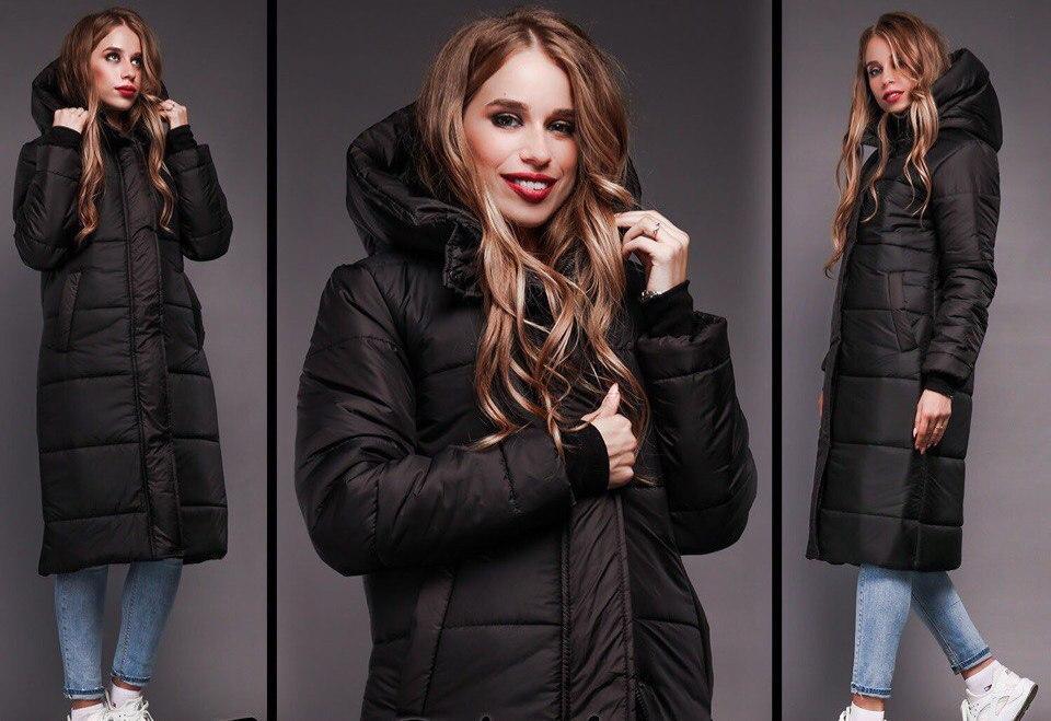 3ef7b3d04ae Зимнее очень теплое удлиненное пальто - дутик на синтепоне - Стильная  женская одежда оптом