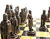 Шахматы металлические на деревянной доске (эксклюзив)