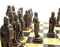 Шахматы металлические на деревянной доске (эксклюзив), фото 1