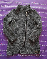 Пальто на девочку р.128-146 серое