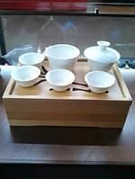 Дорожный набор посуды для питья чая методом проливов с чабанью (чайным столиком)