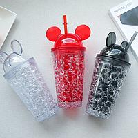 Бутылка Микки Маус Ice Cup с трубочкой