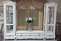 Стенка в гостиную Клеопатра цвет эмаль белая - ТМ Бучинский