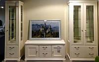 Стенка в гостиную РИВЬЕРА цвет эмаль крем - ТМ Бучинский