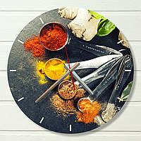"""Часы настенные на кухню - """"Специи 1"""" (на пластике)"""