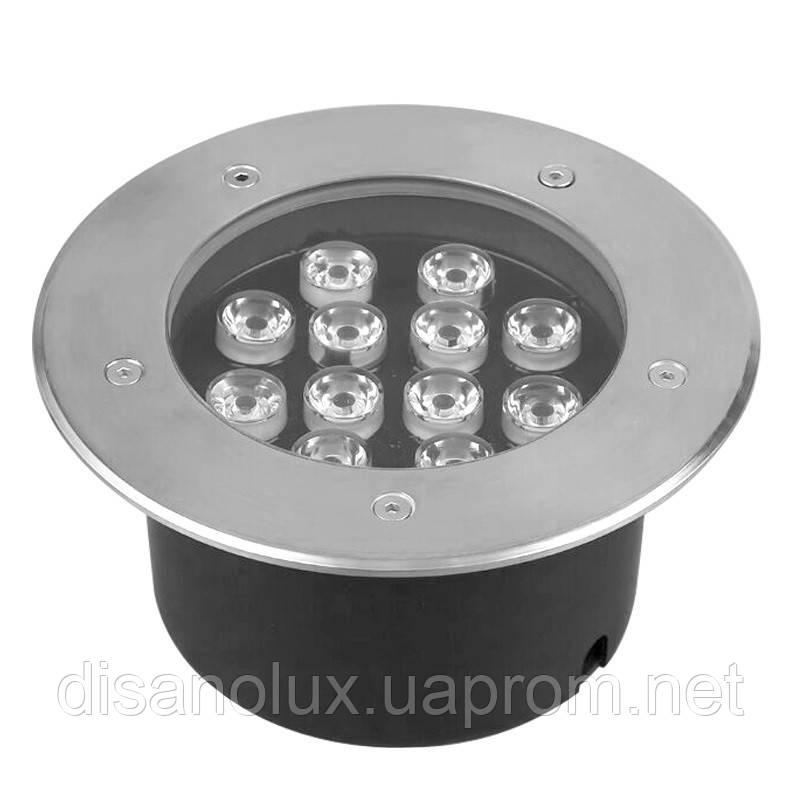Світильник грунтовий QК-12 LED 12W 6000K 230V IP65 розмір 160мм * 90мм