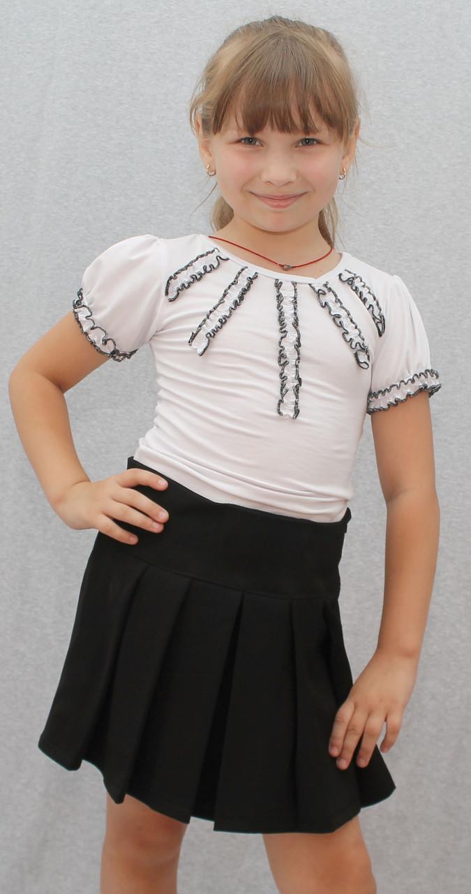 Трикотажная блузка для девочки белая