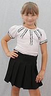 Трикотажная блузка для девочки белая, фото 1