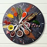 """Настенные часы на кухню - """"Специи 2"""" (на пластике)"""