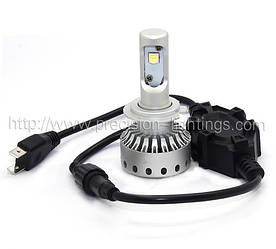 H7 PL-11G Mini Size LED Headlight Premium Short (5000Lm) Chips: Philips MZ + Canbus Function