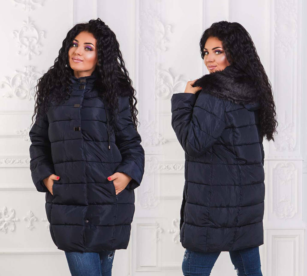 Женская зимняя стильная куртка холлофайбер до больших размеров 6127 ... c2c1b86c102