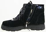 Ботинки женские зимние из натуральной замши большого размера от производителя модель В5221, фото 2