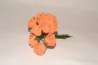 Роза латексная оранжевая