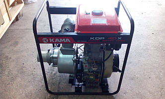 Мотопомпа с дизельным двигателем для воды KamaKDP 40X