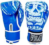 Перчатки боксерские Flex на липучке Everlast Skull BO-5493-B (р-р 8-12oz, синий)
