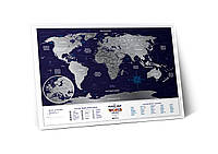 "Скретч карта мира ""Travel Map Holiday World"" (англ) (тубус)"