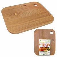 Доска кухонная деревянная 20х25 см для овощей 8922