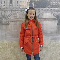 Детская одежда.  Курточка весна-осень (парка-красный)